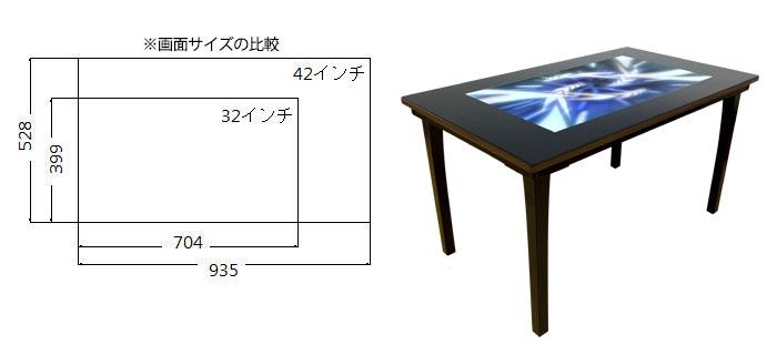 42インチタッチテーブル